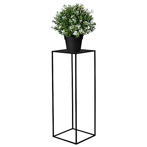 SPRINGOS Blumensäule Pflanzenhocker 80 cm Blumenständer Blumentisch Metall Dekoration Blumentisch Loft Raumgestaltung Haus&Garten (Schwarz)