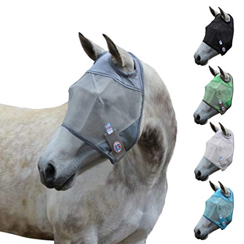 Derby Originals UV-Blocker Premium Reflective Safety Horse Fly Mask Without Ears Or Nose Cover With One Year Warranty