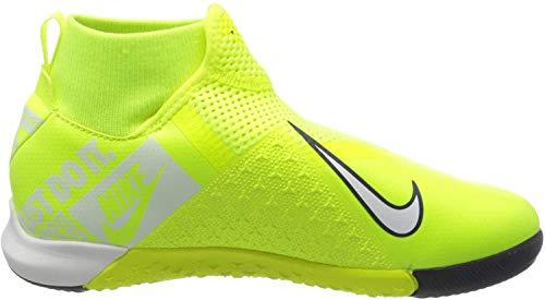 Nike Jr. Phantom Vision Academy Dynamic Fit IC, Botas de fútbol Unisex niño, Verde (Volt/White/Volt 717), 35 EU