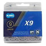KMC X9 チェーン 9S/9速/9スピード用 114Links (EPT(ANTI-RUST)) [並行輸入品]