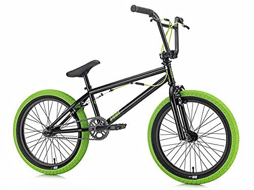 SIBMX FS-1 2019 - Bicicleta BMX (20 pulgadas), color negro y verde