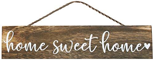 Apanda Wooden Home Sweet Home Sign Wall Hanger - Magnolia Welcome Sign Home Outdoor Wooden Wall...