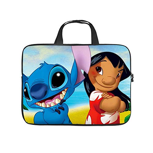 Lilo and Stitch 10-13' 13-17' Neoprene Laptop Sleeve Bag Carrying,Case Premium Laptop Briefcase Fits Up to 17 Inch Water-Repellent for Travel/Business/School/Men/Women