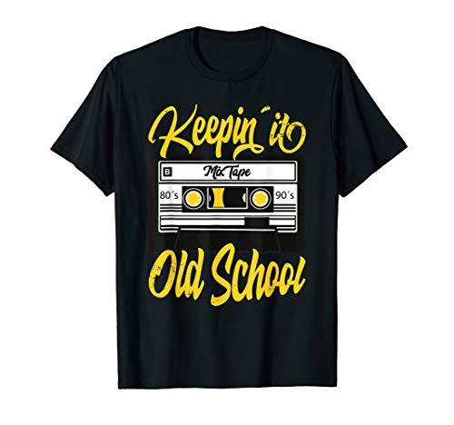 Keeping it Old School Mix Tape Cassette T-shirt for Men, Women, in 10 Colors