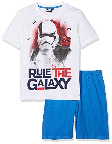 Star Wars Jungen 173417 Zweiteiliger Schlafanzug, Weiß (Blanc Blanc), 8 Jahre