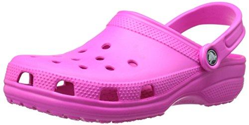 Crocs Unisex-Erwachsene Classic Clogs, Rosa (Neon Magenta), 38-39 EU
