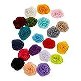 VIccoo 10Pieces / Lot Handmade Filz Rose Blume DIY für Haarschmuck Stirnband Ornamente