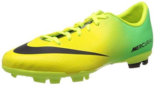 Nike Jr Mercurial Victory IV FG (553631–380), Uomo, Vibrant Yellow/Black/Neo Lime, EU 37,5 (US 5y)