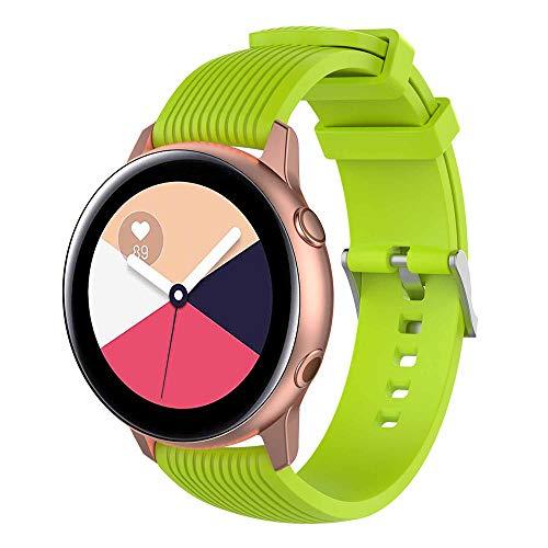 HappyTop - Correa de Silicona para Samsung Galaxy Watch Active Watch, Unisex, para Adultos, Resistente al Agua, Color Verde, Deportes
