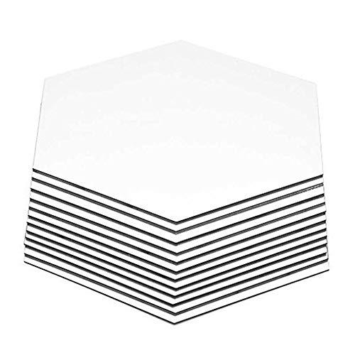 DDG edmms adhesivo decorativo para pared espejo Hexagonal, 12pcs 9cm extraíble adhesivo...