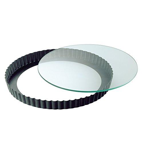 Kaiser Crystal Quicheform, mit Glas-Hebeboden, Ø 24 cm, antihaftbeschichtet, schnittfester Glasboden, servierfertig, Spülmaschinengeeignet