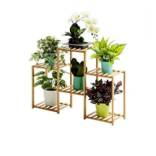 Étagère à Fleurs étagère à Chaussures étagères à Fleurs étagère de Stockage étagère à Plantes présentoir de Fleurs antiseptique Bambou intérieur et extérieur Support 4 Taille