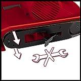 Einhell Bandschleifer TC-BS 8038 (800 W, 76x142 mm Schleiffläche, 380 min.-1 keramische Schutz-Einlage, Zusatzhandgriff, integrierte Staubabsaugung, inkl. Schleifband) - 2