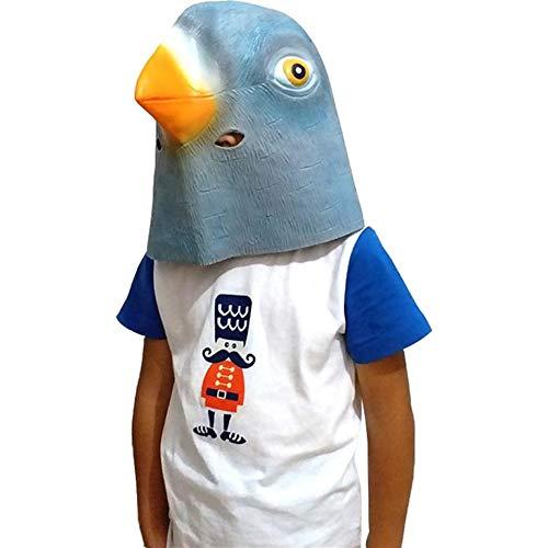 Fhxr Niño Látex Terror Águila Animal Casco, Máscara De Paloma De Halloween Pájaro Atrezzo Adulto ( Color : Blue )