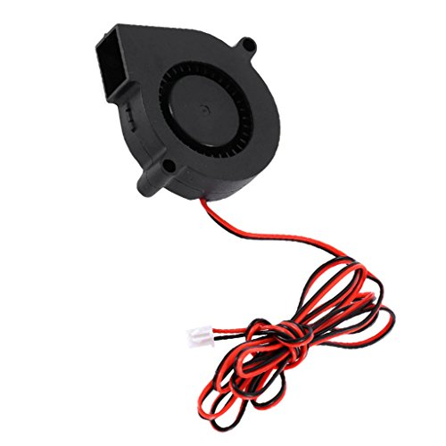 LOVIVER Ventilador de 2 Pines 12V 50mm 5015 50mm X15mm Turbo Cooling para Impresora 3D