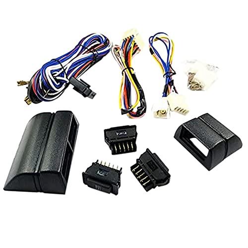 XINLIN Ruderude 12V Coche Universal Power Window Interruptor Interruptor de Ventana Kit Interruptor de Ventana Cableado Arnés Accesorios de automóviles (Color : As Shown)