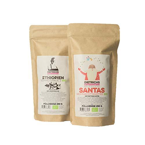 2x 250g handgerösteter BIO Kaffee SANTA & ETHIOPIEN ganze Bohnen