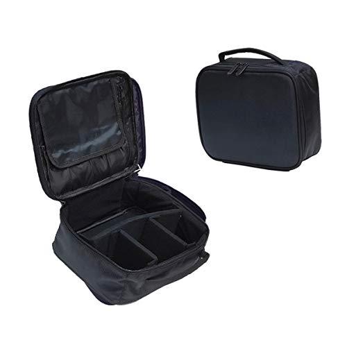 Sac de Maquillage Voyage Maquillage Professionnel Maquillage Boîte Pochette à cosmétiques Sacs Beauty Case pour maquilleur, Noir Mini Soft