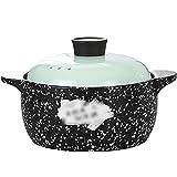 Cazuela De Cerámica,Olla De Piedra De Arroz Claypot para Gas,Sopa De Cazuela,Resistente A Altas Temperaturas,para Estofado/Caldera/ebullición/estofado (Color : Green B, Size : 2.8L)