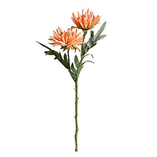 Oce180anYLVUK Flor Artificial 1 Pieza Flor Artificial Crisantemo Jardín Fiesta Hogar Boda Festival Decoración De Bricolaje Naranja