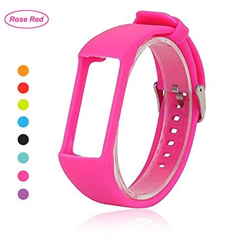 Bemodst® Armband für Polar A360 Fitness-Tracker, Ersatzzubehör Uhrenarmband, weiches Silikon Schreibband Armband für Polar A 360 Smartwatch, rosarot