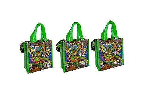 TMNT Ninja Turtle Mini Tote Bag Party Bag x 3
