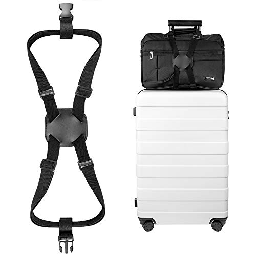 Luxebell Add A Bag Luggage Straps, Suitcase Belt Travel Accessories (Bungee Strap)