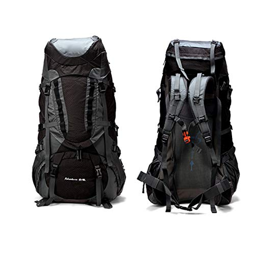 CuteLife Outdoor Travel Daypack Water-Resistant Mountaineering Backpack Hiking Backpack Camping Outdoor Backpack For Travelling Trekking Camping Rucksack (Color : Black, Size : 65L)