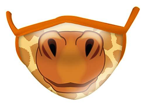 Wild Republic - Mascherina per bambini Wild Smiles, perfetta da applicare sopra alla mascherina per uso medico, riutilizzabile, lavabile, mascherina metà viso, motivo giraffa, 25824
