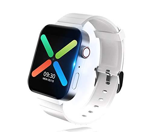 XTHAILIANG Smart Watch, Reloj Inteligente para Hombres y Mujeres, con Pulsómetro, Cronómetros, Siri, Calorías, Monitor de Sueño, con Podómetro Pulsera Actividad para Android iOS(Blanco)