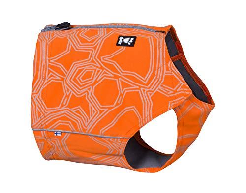 Hurtta Ranger Vest Warnweste, Sicherheitsweste für Hunde, Orange Camouflage Jagdjacke für Outdoor Aktivitäten, M