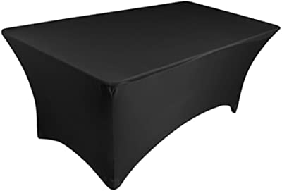 Utopia Kitchen Rectangular Stretch Tablecloth Spandex Tight Fit Table Cover 4 Feet