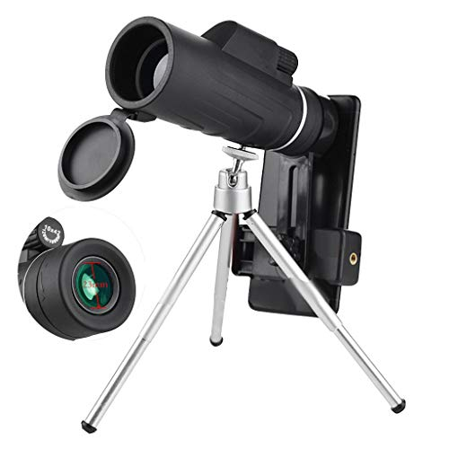 VAIFTILNO Zoom Optical HD Lens Monocular Telescope, Kids Adults Mini Portable Spotting Scope Telescope Microscope with Eyecup and Tripod & Clip for Universal Phone, Easy to Carry and Use