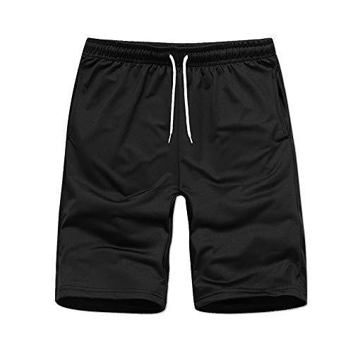 Pantalones de chándal Casuales para Hombre Pantalones de chándal con cordón elástico de Color sólido Pantalones de Playa Transpirables con Tendencia de Verano Ajustados M