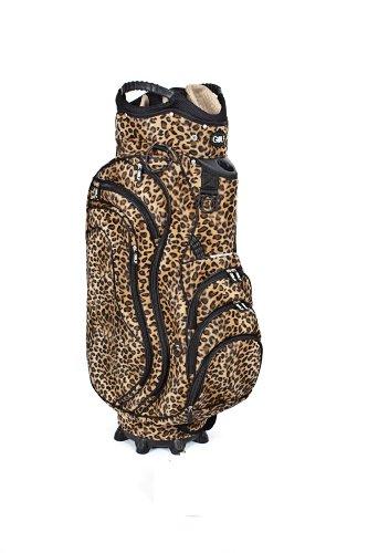 Golf36 Golfbag / Cartbag, Leopardenmuster (Leobag), schwarz/braun, Leoparden-Optik , 100-AB90LEOBR
