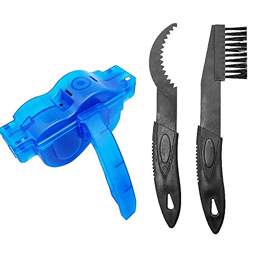 RNDOMIQ Detection Tools Bicycle Chain Cleaner Scrubber Brushes Bicycle Repair Tools Cycling Cleaning Kit Mountain Bike Wash Tools Bicycle Accessories Bike Repair Kit