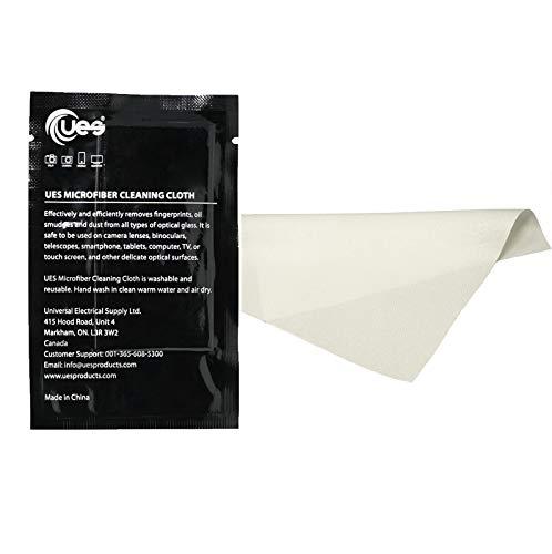 UES fusselfreies Mikrofaser-Reinigungstuch für Kameraobjektive, Brillen, Sonnenbrillen, Telefon- und Tablet-Bildschirme, LED-LCD-Monitore, 8 Stück 15 cm x 15 cm