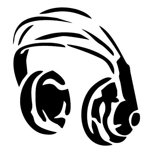 Krevo Art Schablone, Malschablone für Textilgestaltung, Malvorlage, Schablonenpapier Selbstklebend und wiederverwendbar, DIN A4 (Kopfhörer)