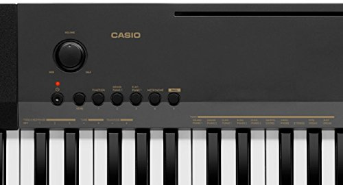 Casio CDP-130BKC5 Digital Piano with 88 Weighted Touch Response Keys - Black