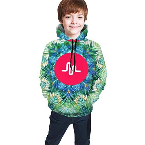 dgfgad Kapuzenpulli Kids Hoodie Musical.ly Logo Youth Sweatshirts with Pocket Pullover Long Sleeve Hooded for Boys Girls