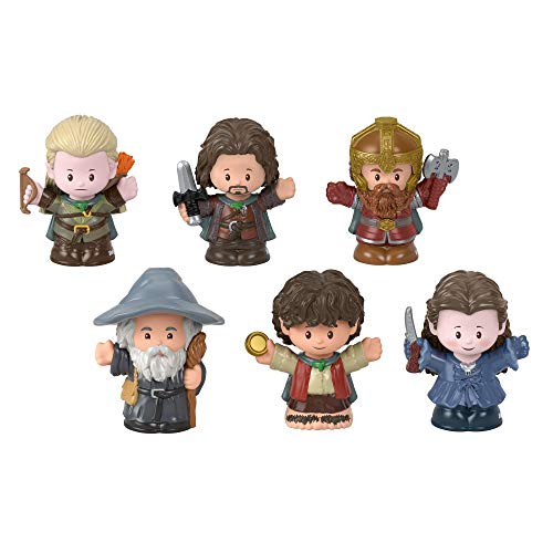 Fisher-Price Little People Collector Lord of The Rings Figure Set, 6 Character Figures from The Film in giftable Package for Tolkien Fans
