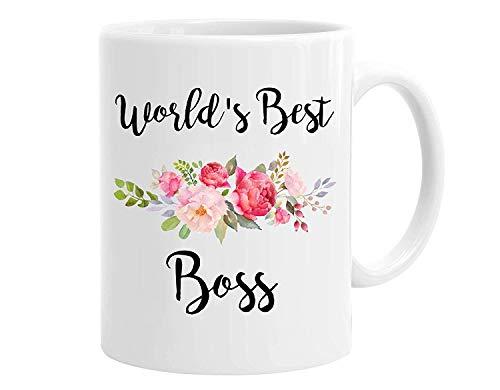 Mugs-XHPrint White Ceramic World's Best Boss Funny Office Co