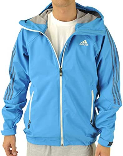 adidas V11083 Men's Sharp Blue Terrex Swift Softshell Hoodie, L