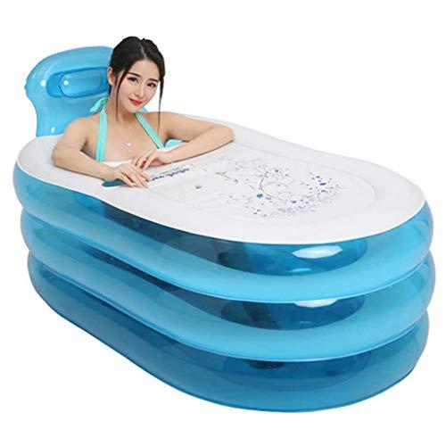 NXYJD Portátil de la bañera Inflable, portátil Plegable de PVC Espesado bañera Inflable Inicio Recorrido Que acampa Tina de baño for Adultos