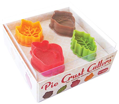 Talisman Designs Pie Crust and Cookie Dough Plunger Cutters, 4-Piece Set