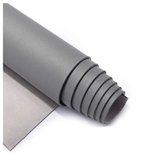 SSYBDUAN Tela de Polipiel for Tapizar Eco-Cuero Imitación d Polipiel para tapizar, Manualidades, Cojines o forrar Objetos.PU Tejido de Piel sintética, Piel sintética,Gris (Size : 1.38×1m)