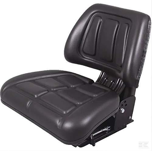 Traktorsitz aus PVC, mechanische Aufhängung, 580 x 490 mm.