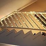 LE 12M LED Lichterkette Draht aus Kupferdraht, 100 LEDs, Wasserdicht IP65, Strombetrieben, ideal Stimmungslichter für Weihnachtsdeko Innen Außen Weihnachten Party Hochzeit usw. Warmweiß - 7