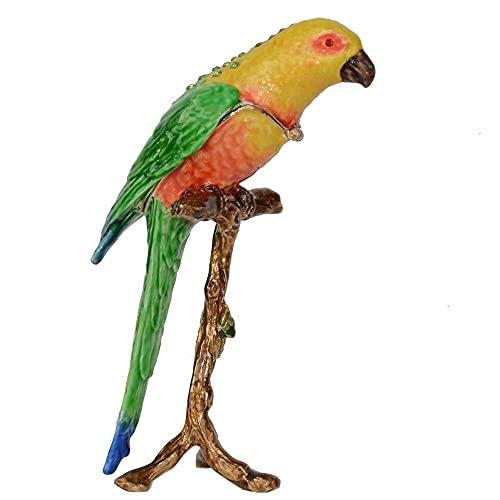 LiuliuBull Parakeet Bird Tinket Box Jewelry Cajas y organizadores Contenedor Decoración de Aves Tabletop Regalos Novedad