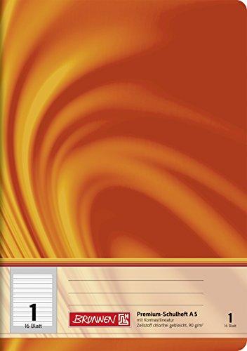 Brunnen 104570102 Schulheft A5 Vivendi (liniert, Lineatur 1)